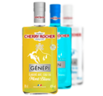 Gamme Mont Blanc : Génépi, Gin, Vodka