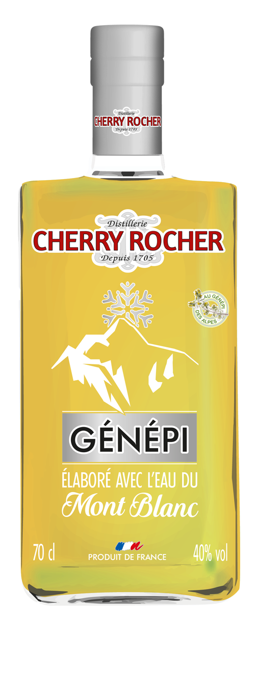 Genepi made with the waters of the Mont Blanc - Cherry Rocher