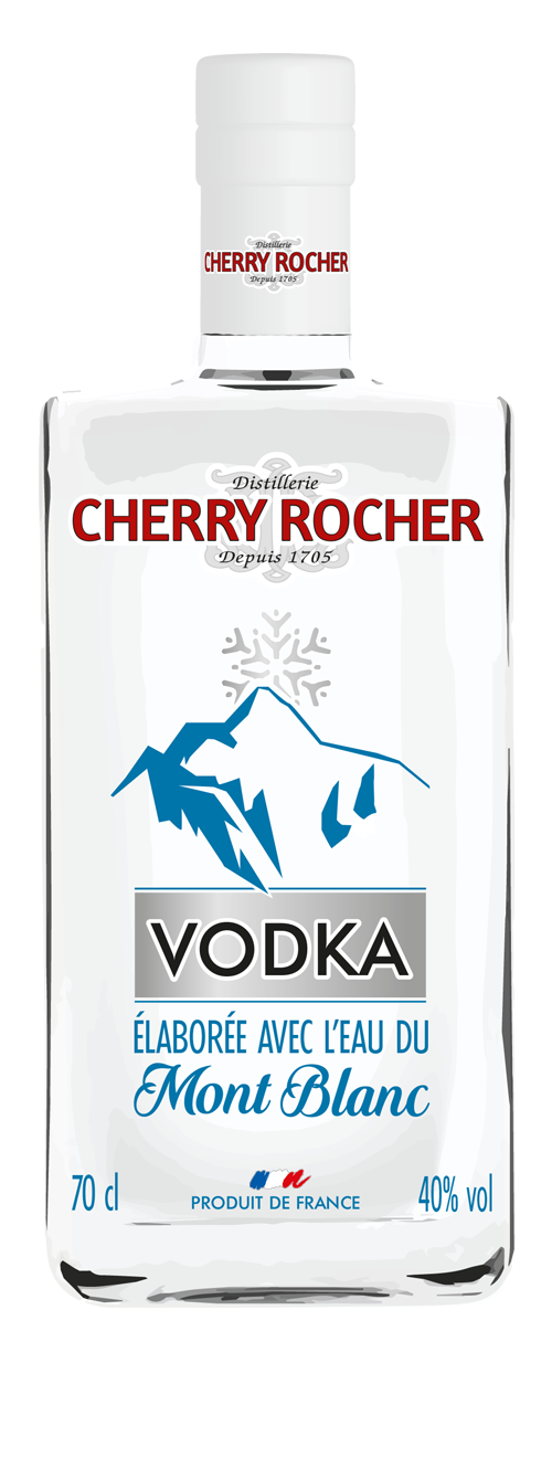 Vodka made with the waters of the Mont Blanc - Cherry Rocher