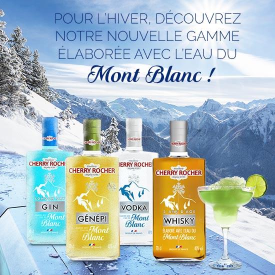Gamme élaborée avec l'eau du Mont Blanc