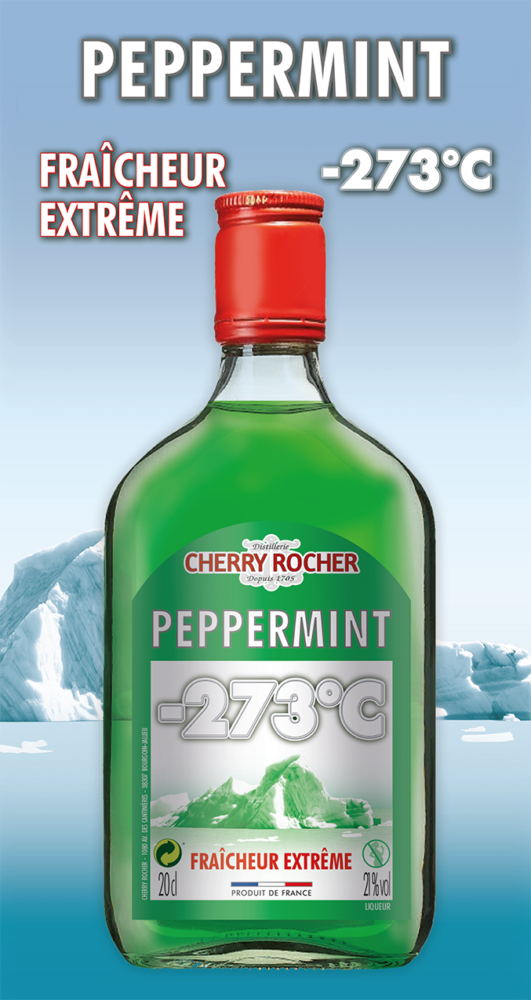 Flask of green peppermint -273° - Cherry Rocher
