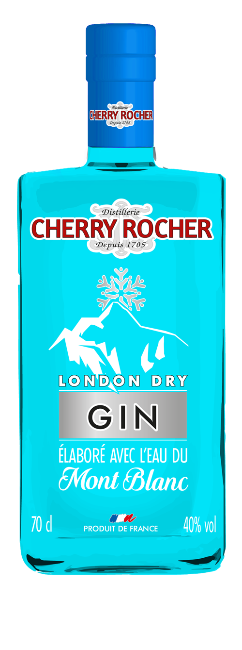 Gin made with the waters of the Mont Blanc - Cherry Rocher