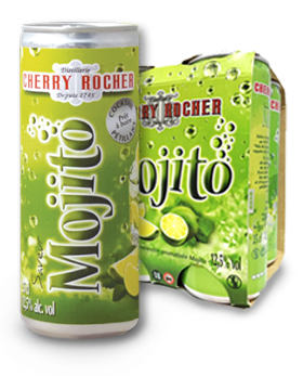Mojito canette 25cl pack x4 - Cherry Rocher